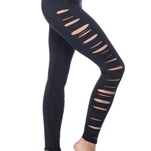 Teeki Jimi Slash Side Hot Yoga Pants S Black